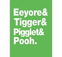 Eeyore&Tigger&Pigglet&Pooh Photographic Print
