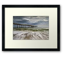Outer Banks NC Avon Pier Cape Hatteras - Fortitude Framed Print