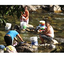 Collective Washing - Lavado Colectivo Photographic Print