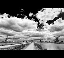 Land of Mills BW by Chopen