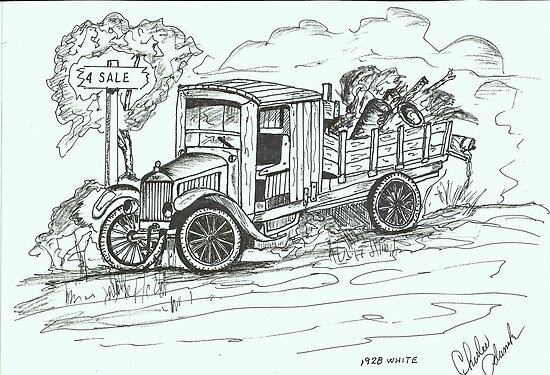 1927 White Truck by charlesadams
