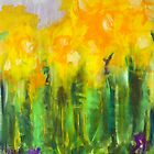 Daffodils. 30 x 40. Acrylic on Canvas. by csoccio100