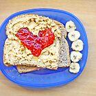 Heart of Strawberry Jelly PBJ Sandwich by ieatstars