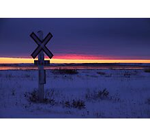 Indigo Sunset: The Crossing  Photographic Print