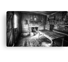 Inside Edmonson's Hut Canvas Print