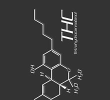 THC Molecule iPhone Case - Dark Grey, White by Netherlabs