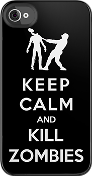 Keep Calm And Kill Zombies by Royal Bros Art