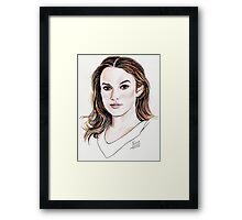 Keira Knightley Framed Print