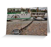 PD-Dresden  steam powered Riverboat Greeting Card