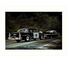 Highway Patrol Art Print