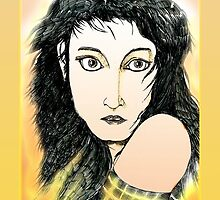 Kate Bush: A Sea of Honey Pen Drawing [Colour] by Grant Wilson