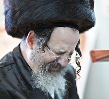 Praying in the Ohel of Rabbi Elimelech. Harcikn Dank ! A dank ojch zejer!   Featured in  Hat Heads. by © Andrzej Goszcz,M.D. Ph.D