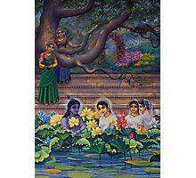 Radha and Krishna in Radha kunda Photographic Print