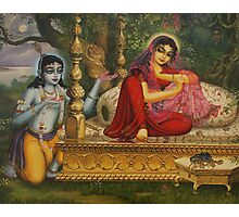 Radha and Krishna Man lila in Vrindavan Photographic Print