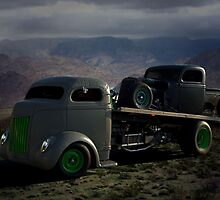 1940 Ford COE Roll Back Tow Truck by TeeMack
