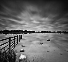 Lake Long Exposure Mono by Steve Purnell