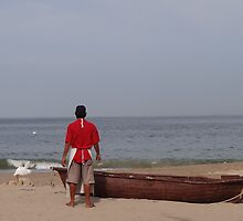 The Boat, The Fisherman And The Ocean - El Barco, El Pescadero Y El Oceano by Bernhard Matejka