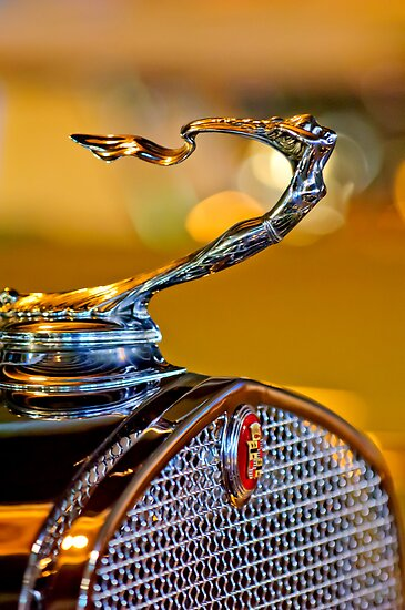 1930 Cadillac V-16 Roadster &quot;Goddess&quot; Hood Ornament 1 by Jill Reger
