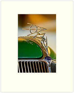 1936 Ford V8 Deluxe Roadster Hood Ornament by Jill Reger