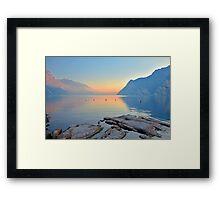Luce della sera sul Lago di Garda Framed Print