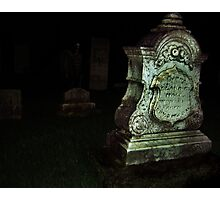 Ghost in the Cemetery Photographic Print