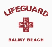 Balmy Beach Life Guard Shirt by daeryk