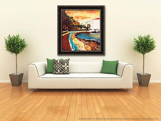 "Painting ""Catalina Island"" Displayed In Setting by Carrie Jackson"
