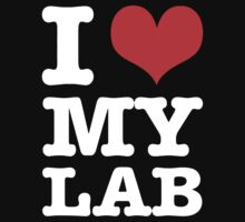 I Love My Lab (black) by Giii