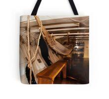 Hammocks, Below Decks on a Sailing Ship. Tote Bag