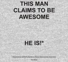 Claims to be awesome - is! by amanoxford