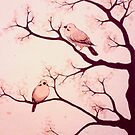 Cherry blossom birds by TPFW