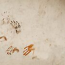 Hand prints on a wall by Marjolein Katsma