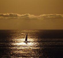 Yellow Sailing - Navegación A Vela Amarilla by Bernhard Matejka