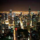 Chicago Building Lights by tmbolle