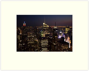 Manhattan at Dusk by Ray Chiarello