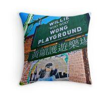 Willie Wong Playground Throw Pillow