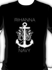 Rihanna Navy Design T-Shirt