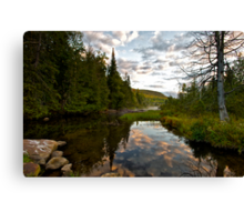 North River Sunrise Canvas Print