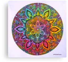 Mandala 10 drawing rainbow 1 Prints, Cards & Posters Canvas Print
