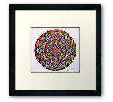 Mandala 10 drawing rainbow 2 Prints, Cards & Posters Framed Print