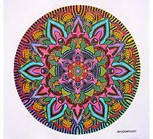 Mandala 10 drawing rainbow 2 Prints, Cards & Posters Photographic Print