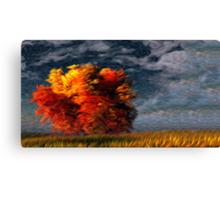 Twilight Fall Tree Oil Painting Canvas Print