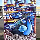 Life @ the Lake (back view of Traffic Signal Box) by Penny Lewin - Hetherington