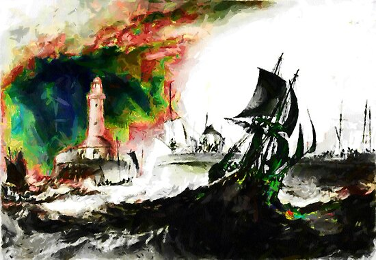 A Brig Leaves Ramsgate Harbour by W Turner by Dennis Melling
