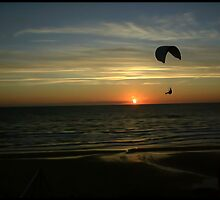 Flying into sunset by Malin Andersson