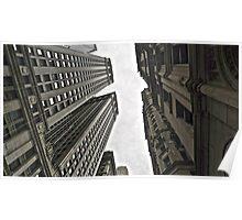 In-between skyscrapers Poster
