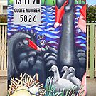 Life @ the Lake (front side of Traffic Signal Box) by Penny Lewin - Hetherington