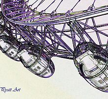 London Eye Digital Art by DavidHornchurch