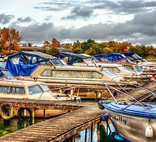 At the Marina HDR by Vicki Field
