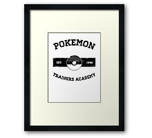 Pokemon Trainers Academy Framed Print